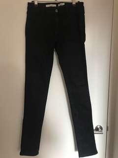 Black twiggy wrangler jeans size 9