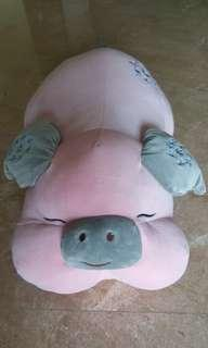 Life size soft and cuddly piglet plushie