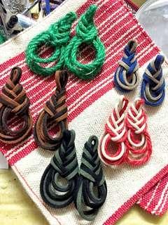 🚚 【義賣】純手工質感麂皮/麻繩耳環