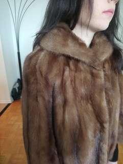 Real mink fur jacket.