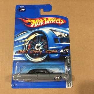 Hot Wheels 1964 Chevy Impala Grey Black