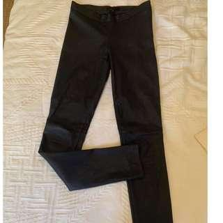 Maje Leather Leggings Pants Trousers 34 (AU 6 or 8)