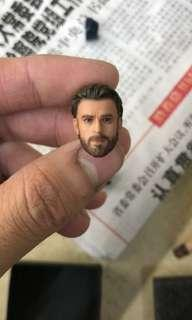 VERY RARE & HOT! *Urgent Pre Order* Custom 1/12 or 6 inch Hand Painted Head, Neck, Arms for Bandai Marvel Avengers Infinity War S.H.Figuarts SHF or Hasbro Marvel Legends Captain America Figure