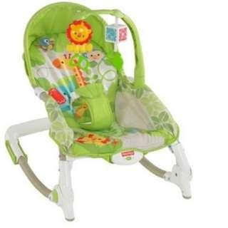Fisher-Price Newborn-to-Toddler Portable Rocker only 90SGD for meet up price. Ready Stock!!!