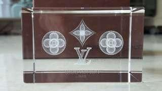 AUTHENTIC LOUIS VUITTON NOVELTY MONOGRAM CRYSTAL PAPERWEIGHT