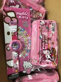 Hello Kitty Set: 1 Watch, 1 Big Pencil Case