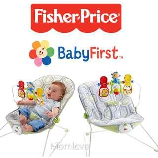 🚚 Ready Stock ! Brand New Fisher-Price Baby's Bouncer With Removable Toy Bar, Geo Meadow (Baby Shower Newborn Full Moon Gift Rocker Present)