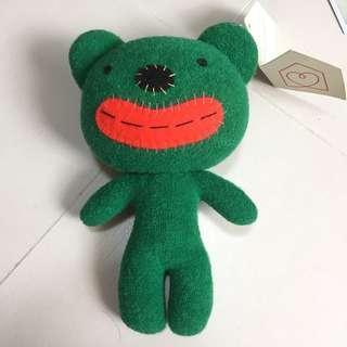 Habitat Big Mouth green soft toy plushie bear thick lips