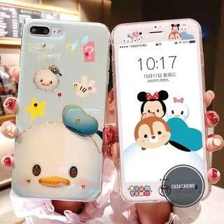 Iphone 6-8+ Tsum Tsum casing + Screen Protector
