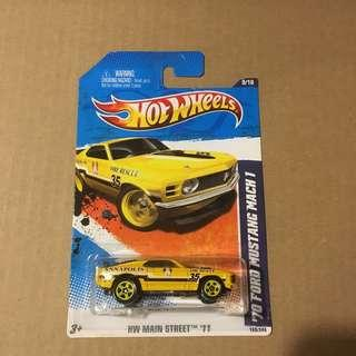 Hot Wheels '70 Ford Mustang Mach 1 Annapolis Fire rescue 35 Yellow