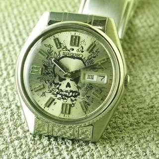 70's 中古 SEIKO 骷髏頭錶面 6309 自動