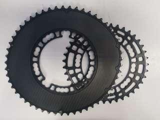 Rotor Qarbon Q-Rings Oval Chain Rings 53/39T
