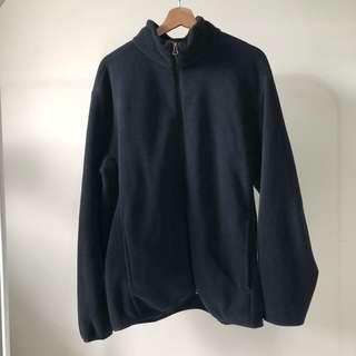 Uniqlo黑色刷毛外套XXL