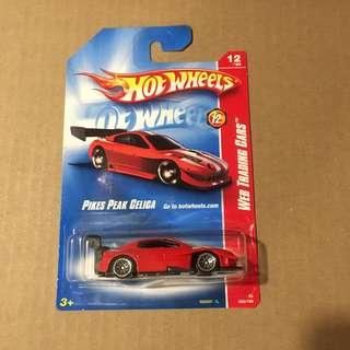 Hot wheels Pikes Peak Toyota Celica Red Web Code Trading Cars