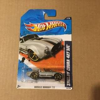 Hot Wheels Ford Shelby Cobra 427 S/C Silver