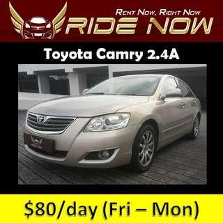 Toyota Camry 2.4A Cheap and P Plate Friendly Car Rental