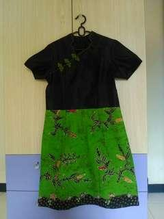 #Ramadan sale Dress batik kombinasi