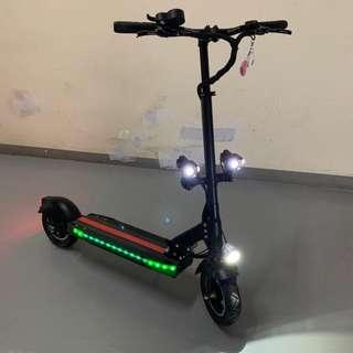 **Brand New** Electric Scooter (48V 14.4AH) | LED Light | Anti-Theft Remote Control | Angel Lights