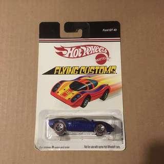 Hot Wheels Flying Customs Ford GT 40 Blue