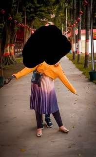 Rok plisket suede 2 warna bangkok