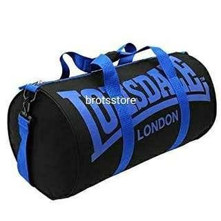 Lonsdale barrel bag Color black/blue