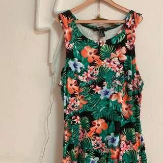 🚚 (instock) forever 21 floral skater dress