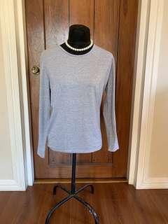 Women: Grey Long Sleeves Fits M-L