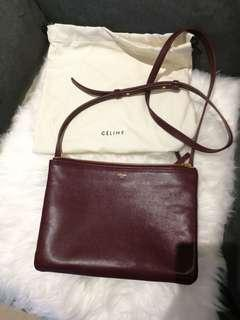 Celine Large Trio Bag in Smooth Lambskin