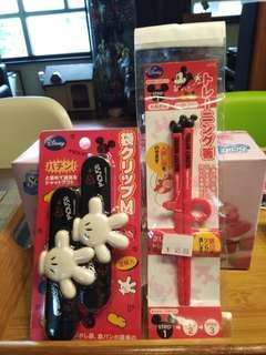 米奇老鼠,食物夾及學習筷子