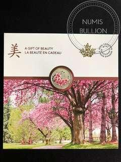Canada Cherry Blossoms Gift Of Beauty 1/4 Oz Silver Coin