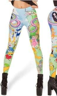 Cartoon Network Adventure Time Favorite Character Stretch Women's Leggings, Size 16 (Fit S/M)