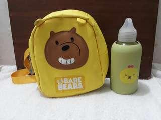 Back pack water bottle set