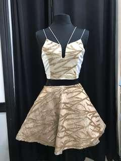 Never worn top and skirt