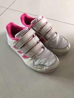 Authentic Adidas court shoes, size UK 1