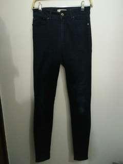 Mango high waisted jeans (navy)
