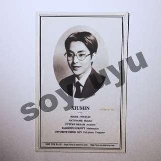 EXO XIUMIN XOXO OFFICIAL PHOTOCARD