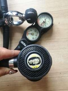 👍Mares Oceanic Axis Regulator octopus scuba diving gear EN250 Italy high quality