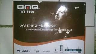 Mic wireless UHF Infrared BMB WT-6600