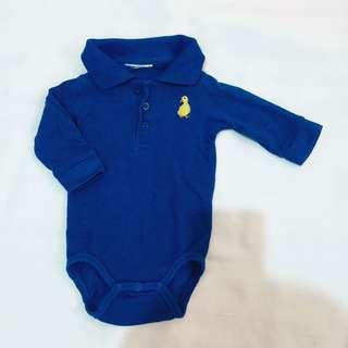 Longsleeve Polo Shirt Onesie 3-6 Months