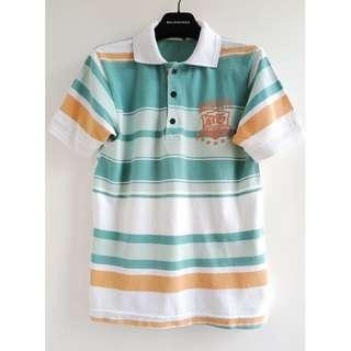 Thailand brand Blur stripes polo shirt 珠地polo恤/ abercrombie & fitch, hollister/