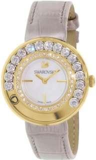 🚚 Swarovski Women's Lovely Crystals Gold Leather Swiss Quartz Watch