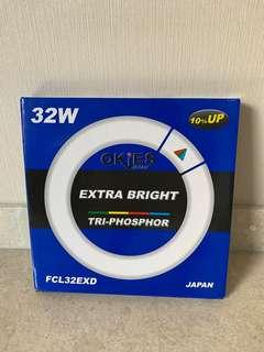 🚚 Okies Japan Extra Bright 32W Round Fluorescent Tube