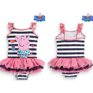 Preorder Navy stripe Peppa Pig tutu style swimwear