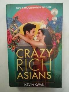Novel: Crazy Rich Asians by Kevin Kwan (printed 2018)