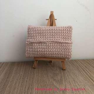'starlight' Crochet Pocket Tissue Pouch