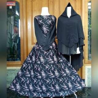 🚚 2 colors jubah and khimar set