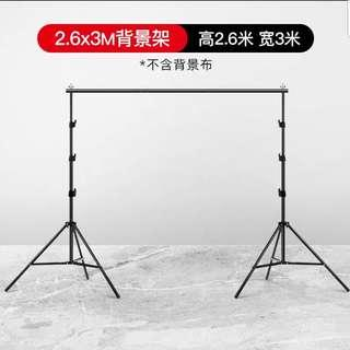 2.6m x 3m Backdrop Stand for Rental + Backdrop Cloth