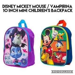 469c4ad57eb  Brand New  Disney Mickey Mouse   Vampirina 10 Inch Mini Children s  Backpack Kids School