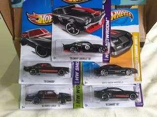 Hotwheels lot of 5 cars