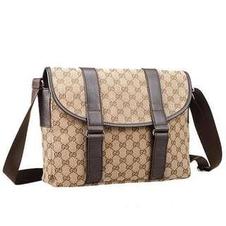 Gucci monogram medium messenger bag